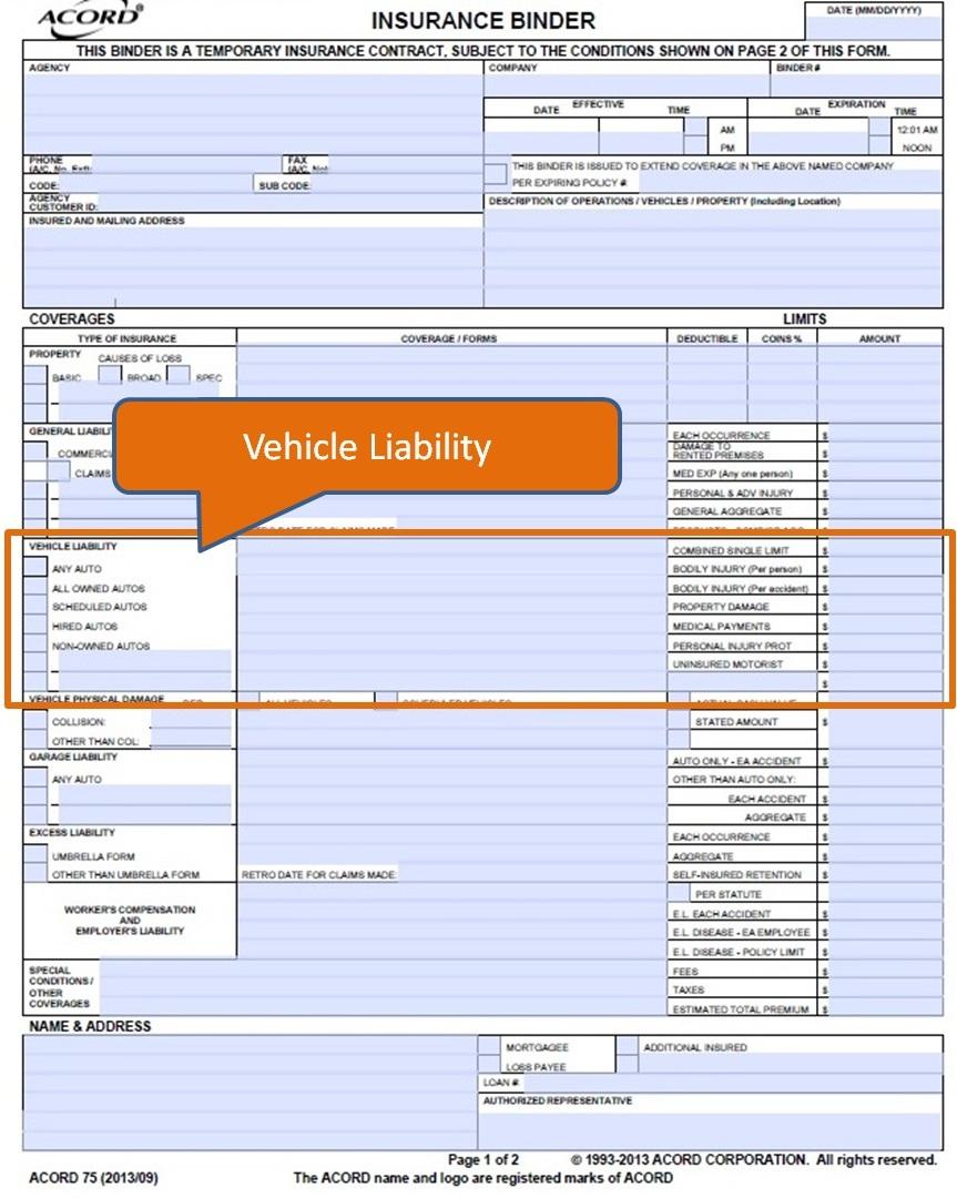 Free Insurance Binder Form