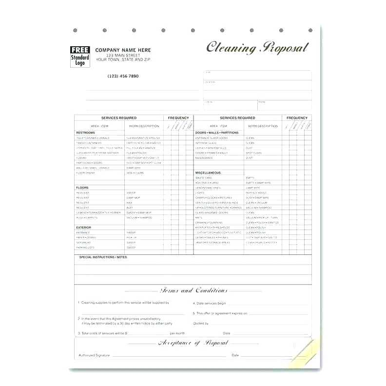 Free Janitorial Proposal Forms