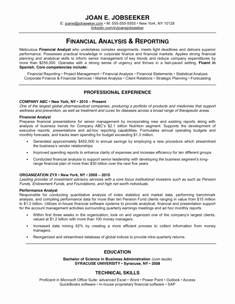 Free Printable Resume Format Best Of Discover Thousands Excellent Resume Examples