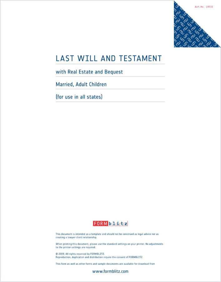 Free Last Will And Testament Form Massachusetts