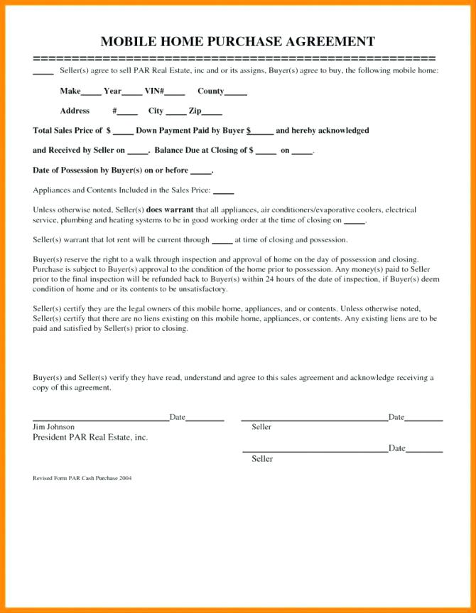 Free Lease To Own Home Contract Form