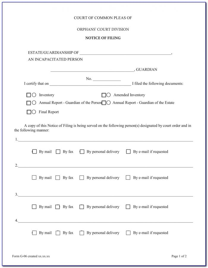 Free Legal Guardianship Form Texas