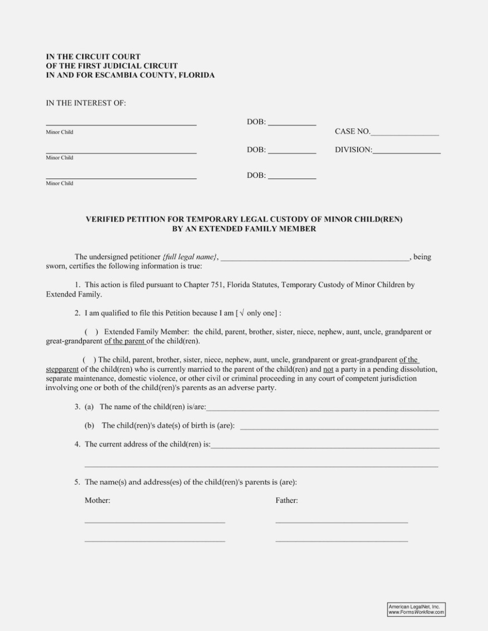 Free Legal Guardianship Forms Florida
