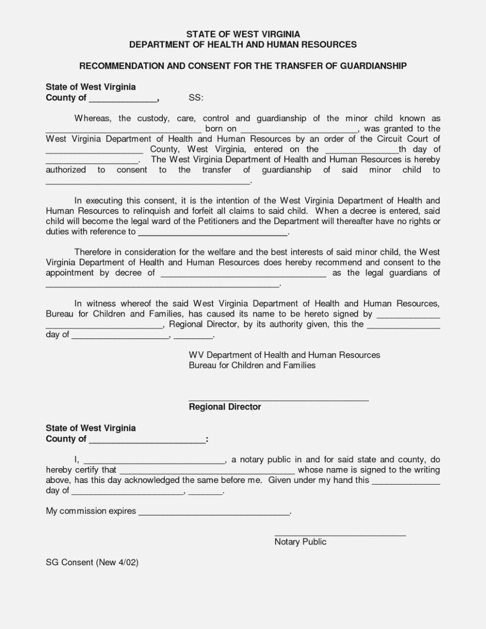 Free Legal Guardianship Forms Texas