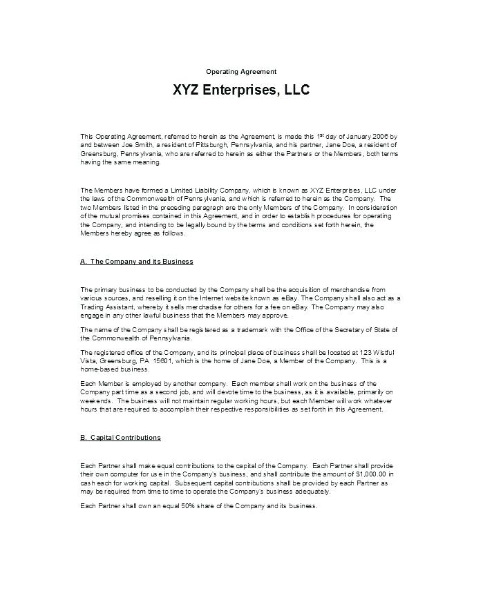 Free Llc Buyout Agreement Form