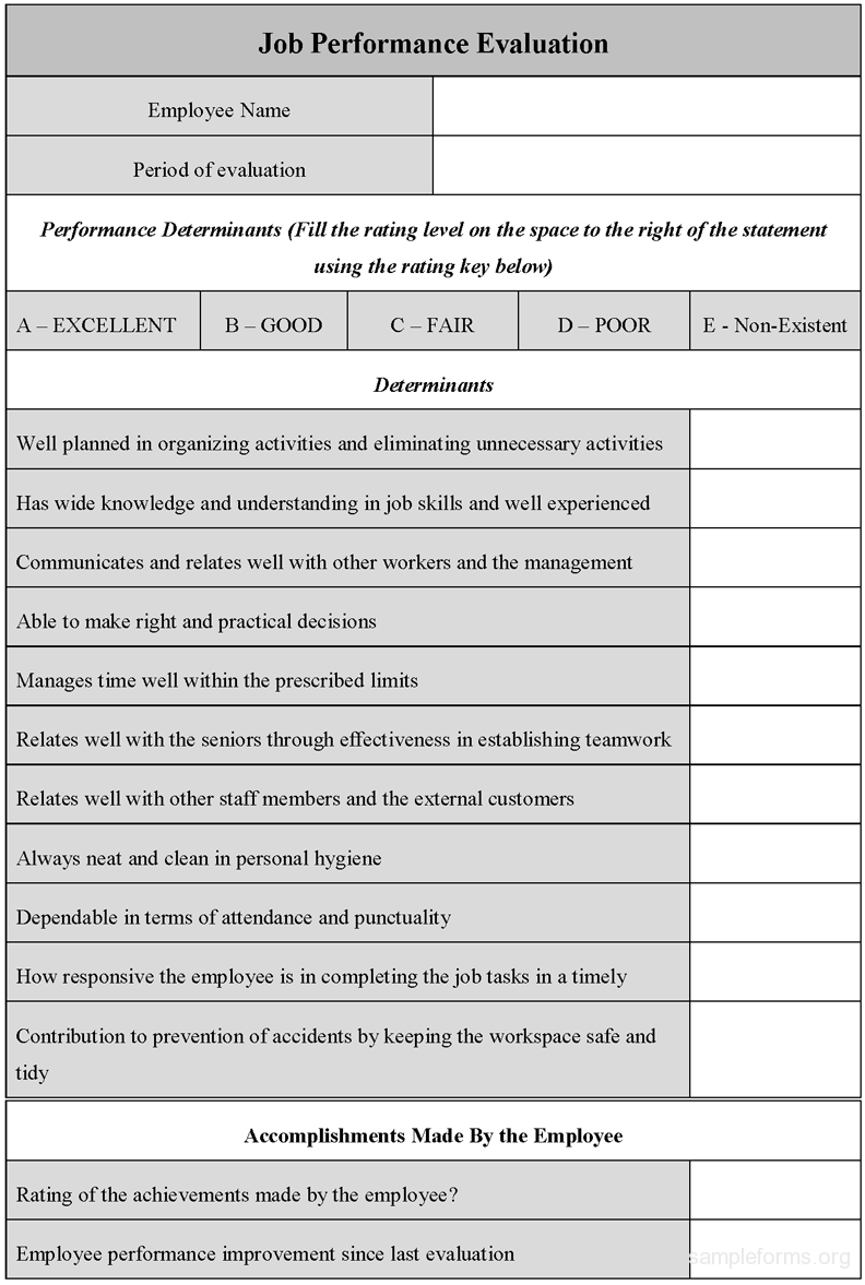 Free Medical Office Employee Evaluation Forms