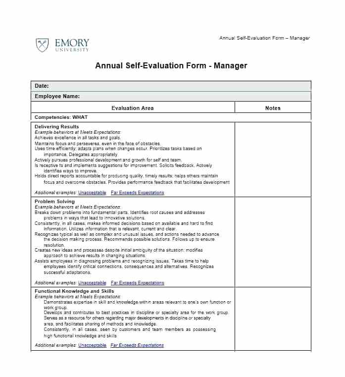 Free Microsoft Employee Evaluation Forms