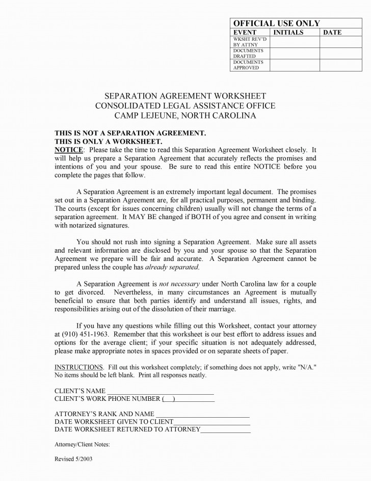 Free Ny Separation Agreement Form