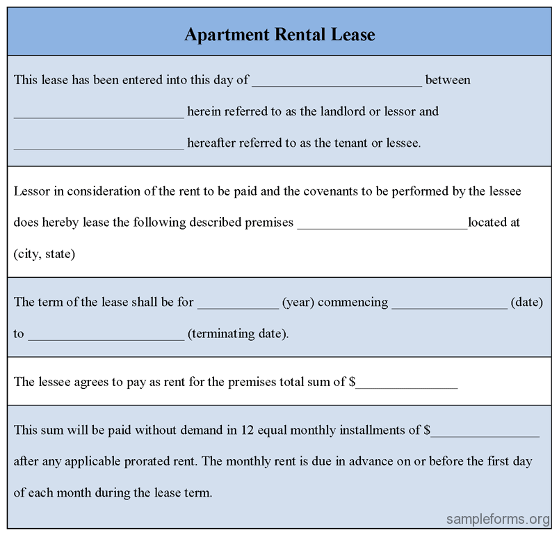 Free Online Lease Forms