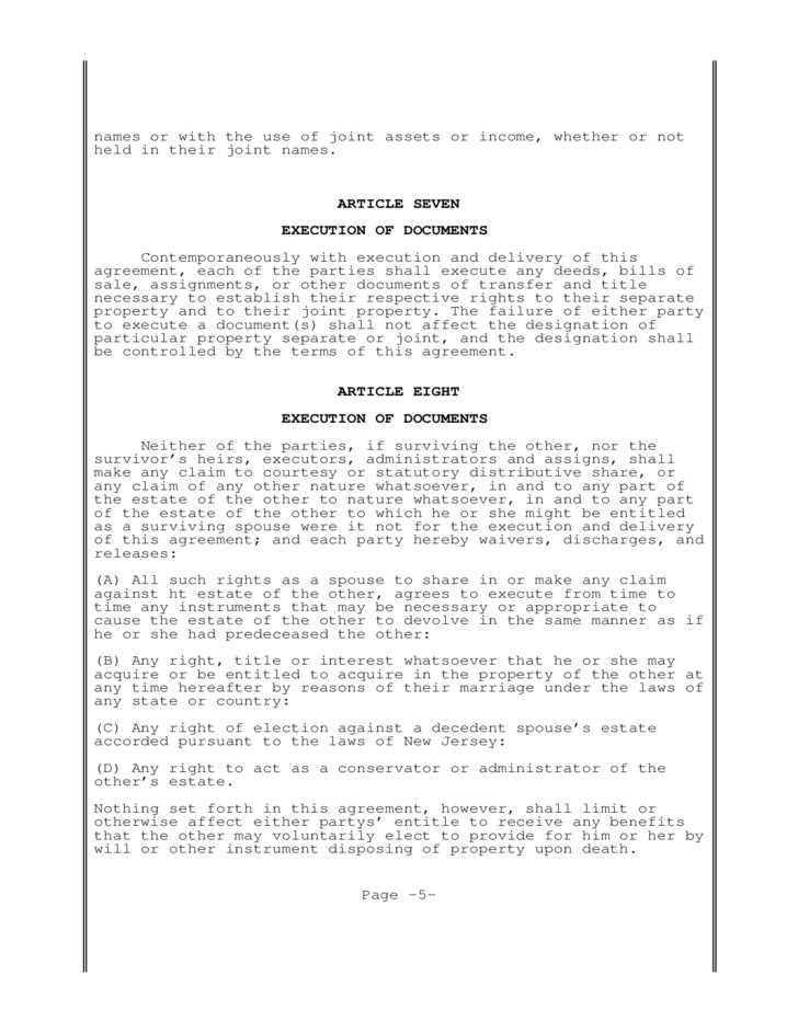 Postnuptial Agreement New Jersey Free Download Postnuptial Agreement Form