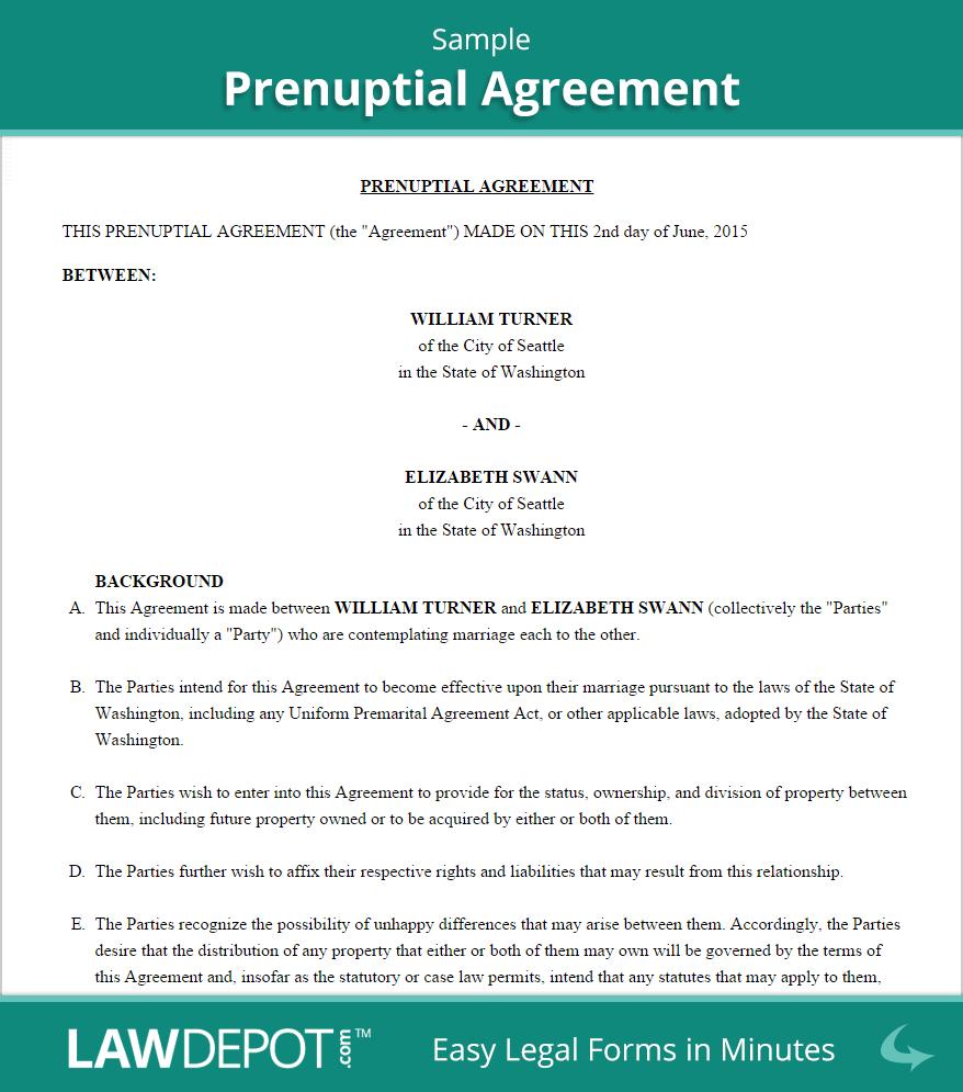 Free Prenuptial Agreement Form Illinois