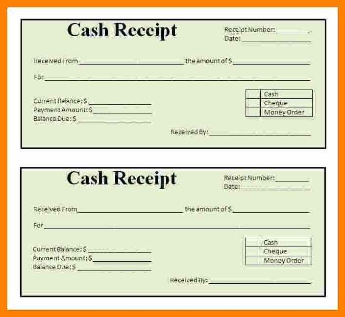 Free Printable Cash Receipt Forms