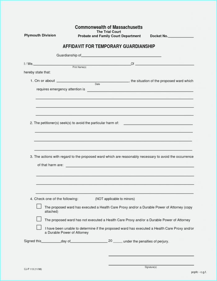 Free Printable Child Guardianship Forms Uk