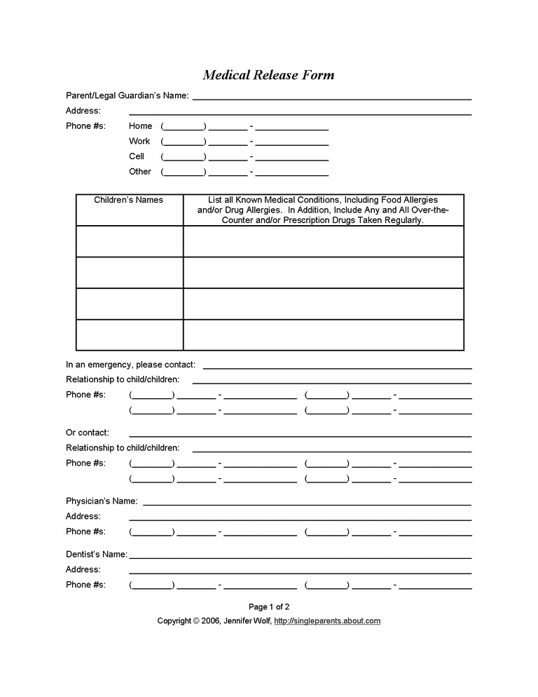 Free Printable Custody Agreement Forms
