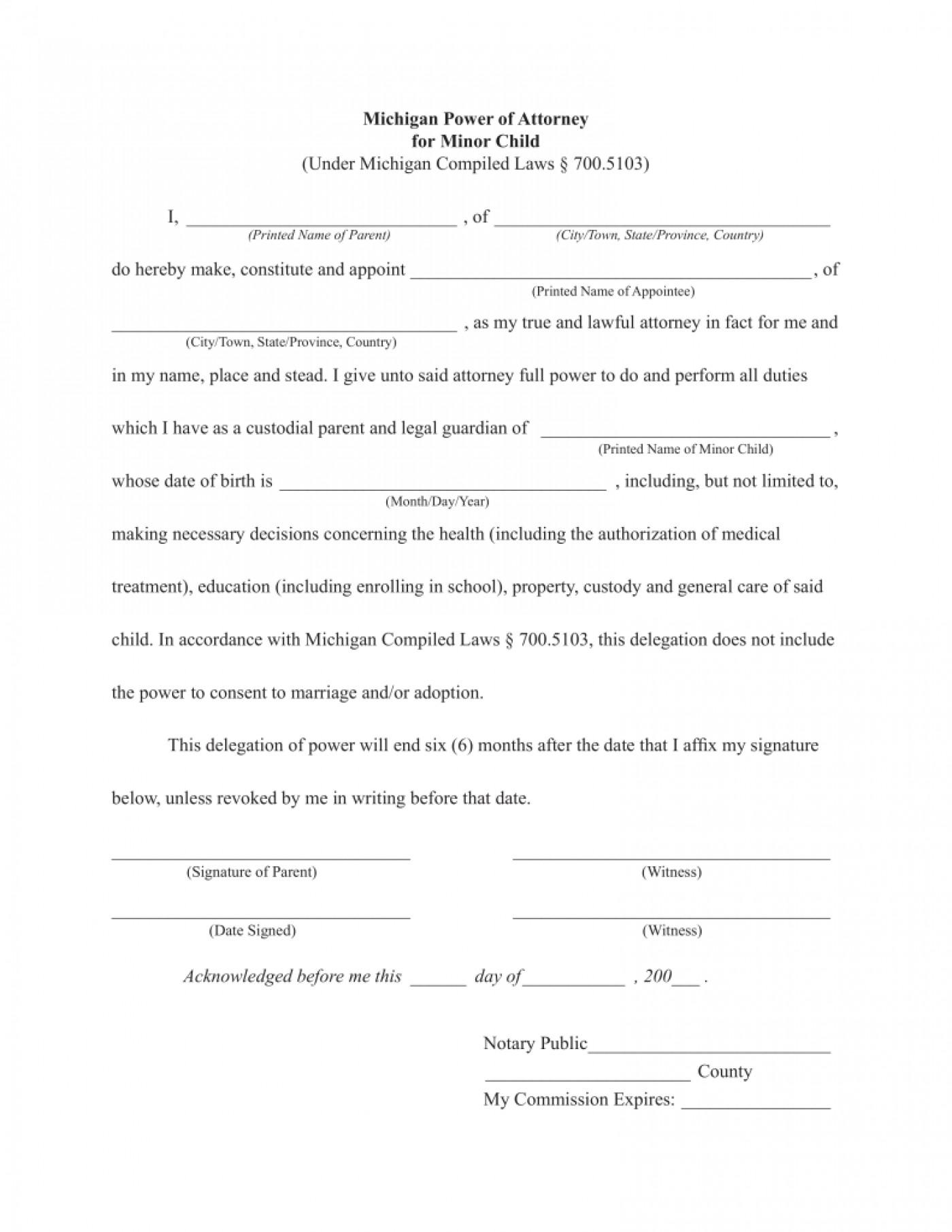 Free Printable Durable Power Of Attorney Form Colorado