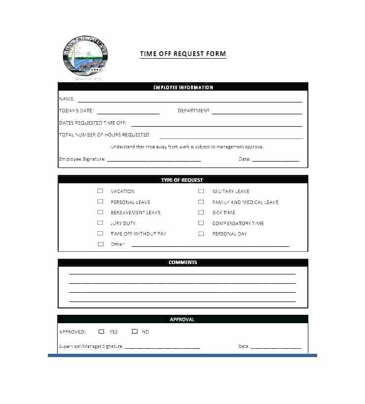 Free Printable Employee Time Off Request Form