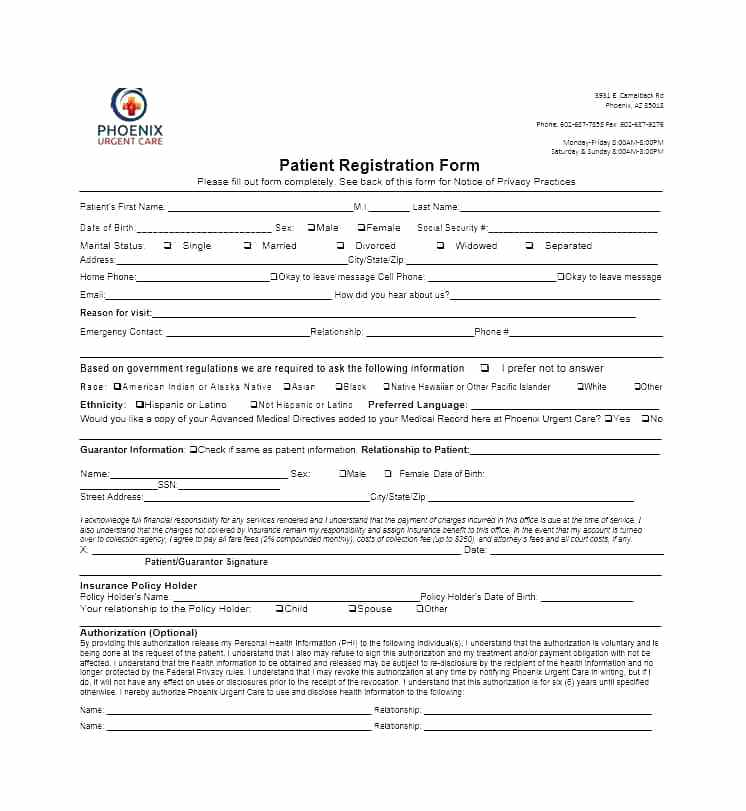 Free Printable Event Registration Forms