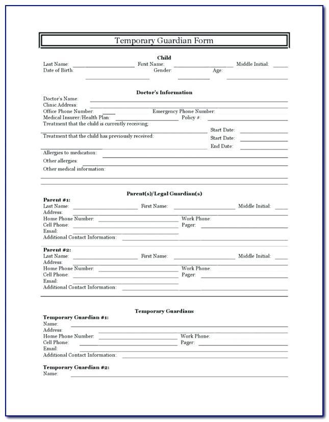 Free Printable Guardianship Forms Ohio