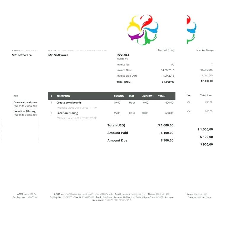 Free Printable Invoice Templates For Mac