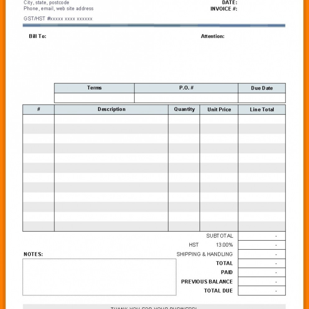 Download Free Printable Invoice Maker Blank Invoice Template 19 Blank Invoice Templates