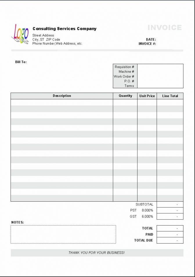 Free Printable Job Invoice Forms