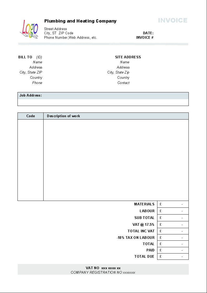 Free Printable Plumbing Estimate Forms