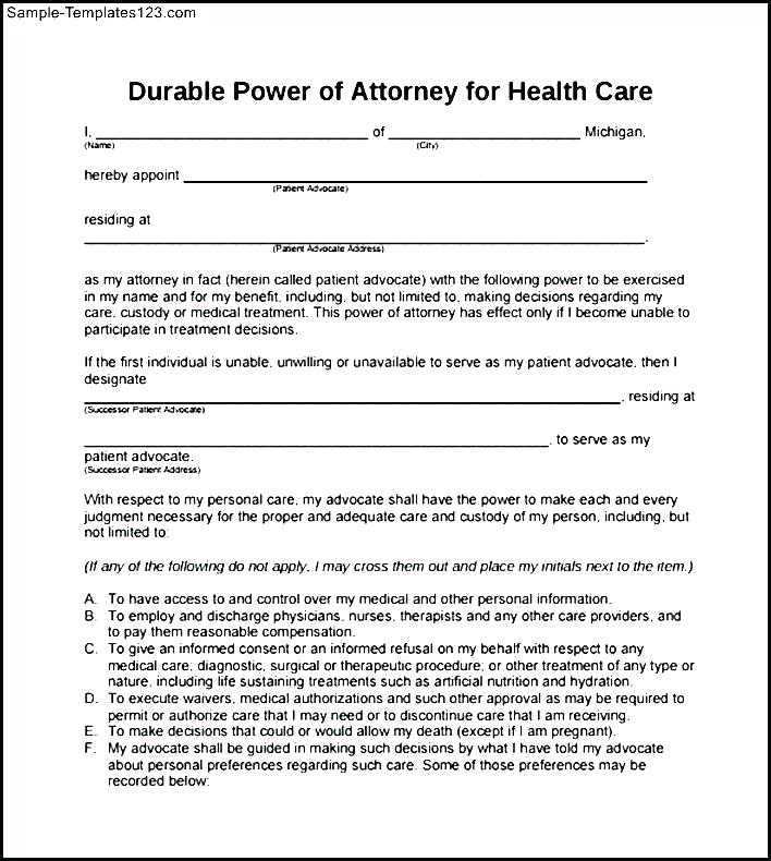 Free Printable Power Of Attorney Form Alberta
