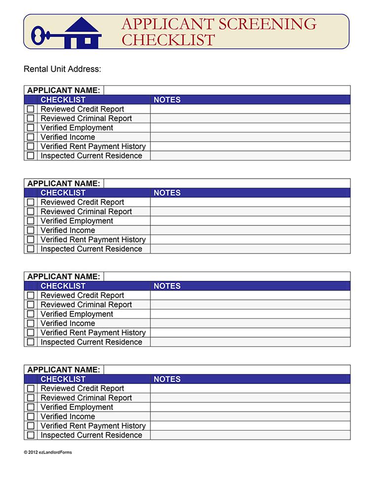 Free Printable Rental Application Form Word