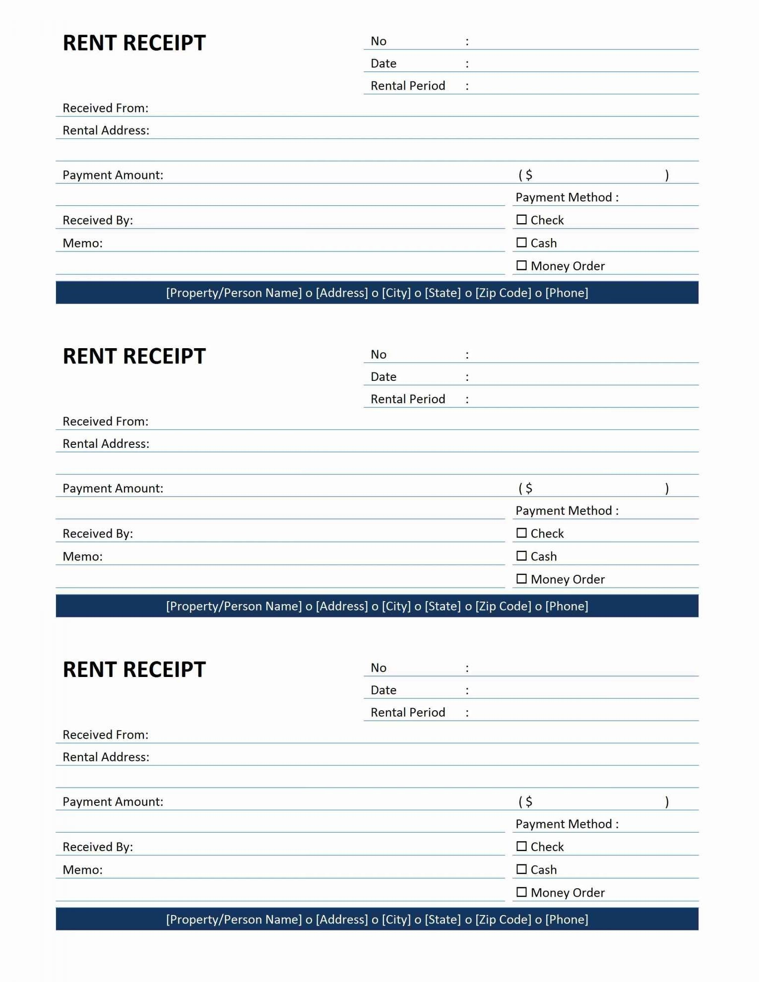 Free Printable Rental Receipt Form