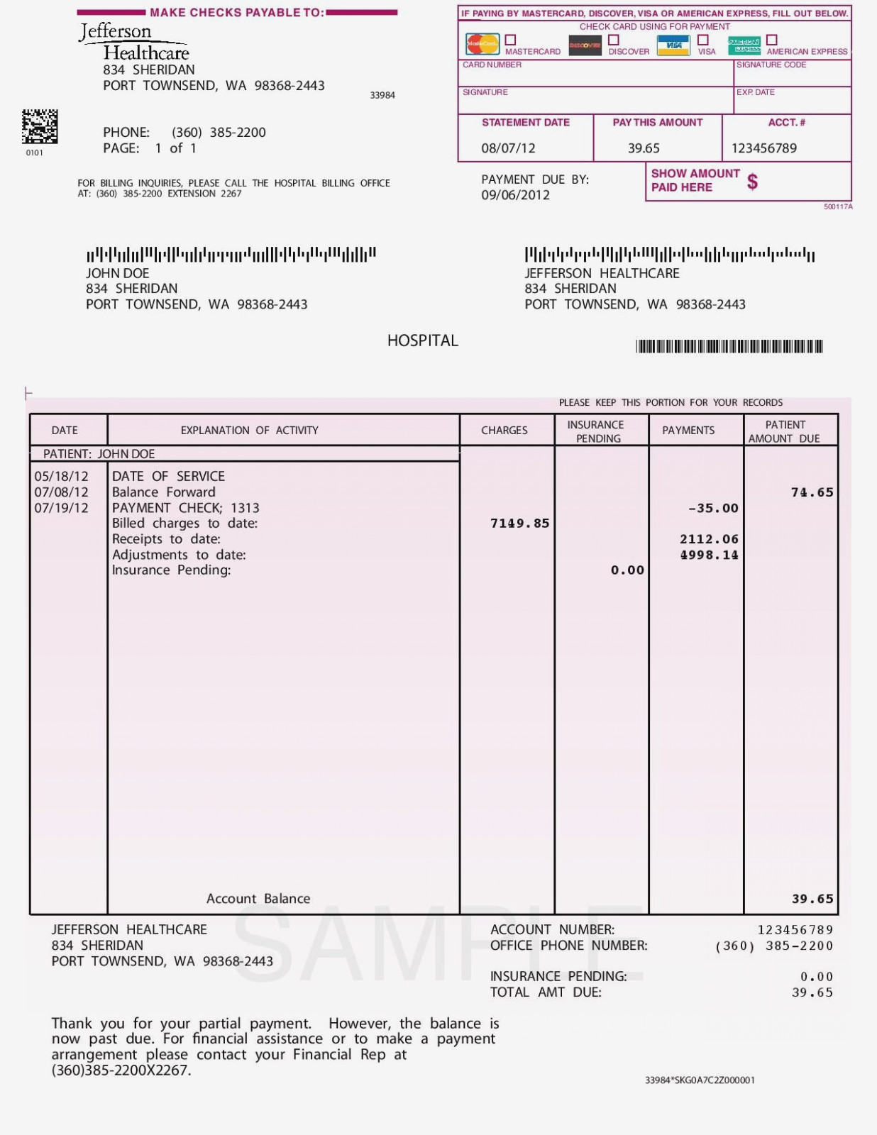 Free Printable Sample Invoice Form