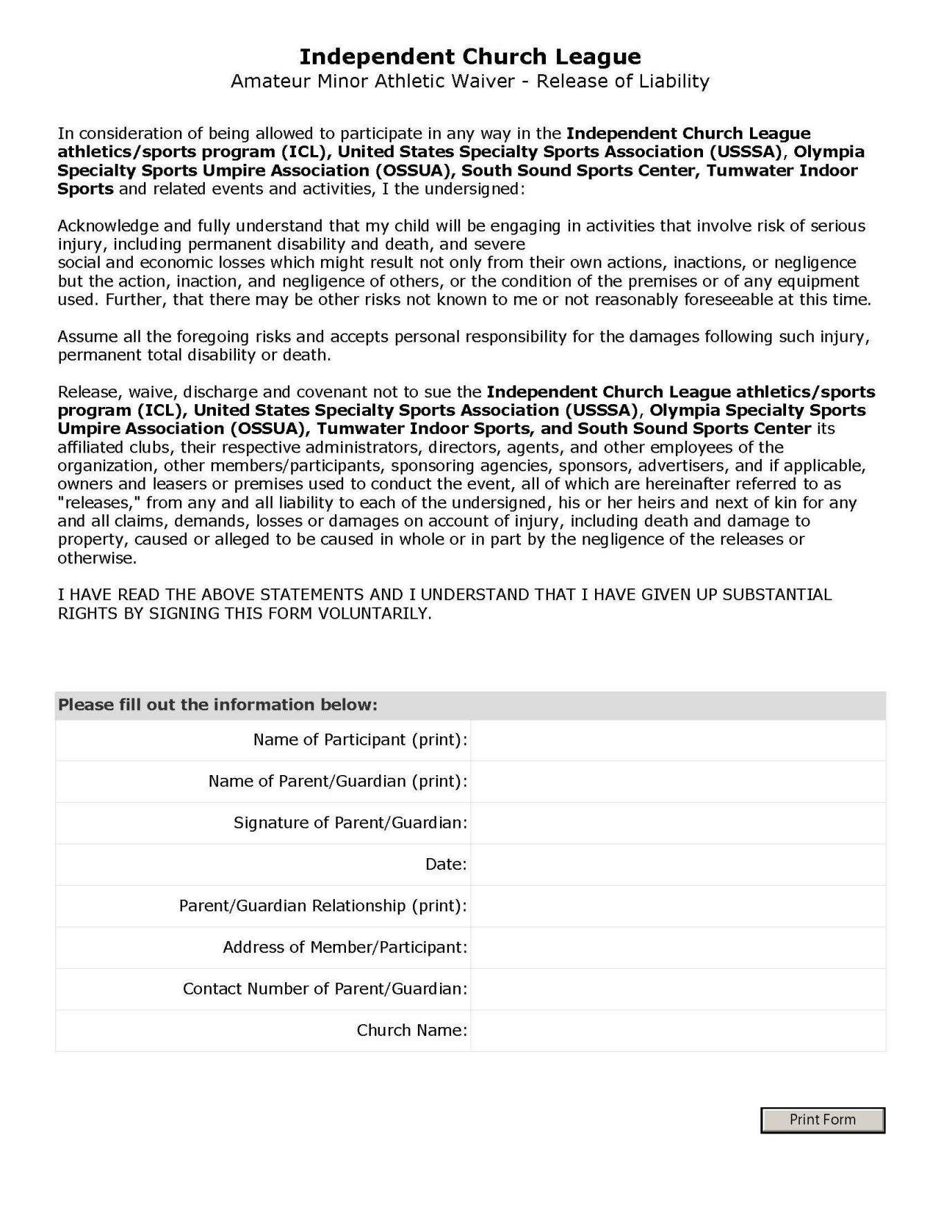 Free Printable Trampoline Waiver Form Sample Waiver Form Coloring Pages Sample Waiver Legal