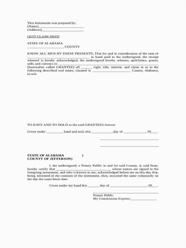 Quit Claim Deed Form Pdf Professional How To Get Quit Claim Deed Format
