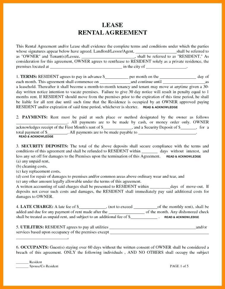 Free Rental Lease Form Ny