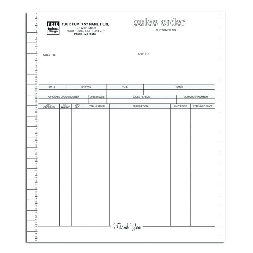 Free Sales Order Form Template Downloads
