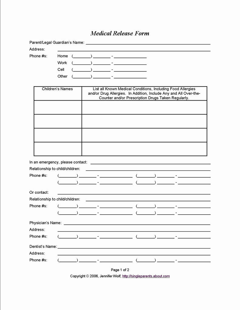 Temporary Guardian Consent Form Lovely Free Temporary Guardianship Form Medical Consent Form When You Might