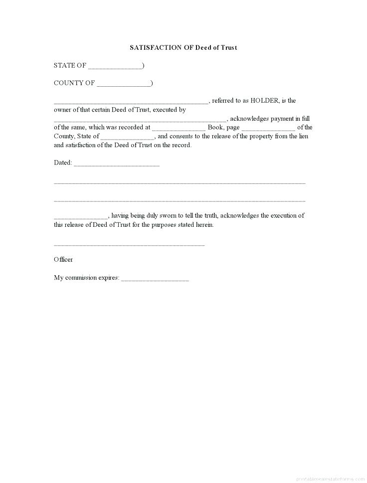 Free Trust Transfer Deed Form