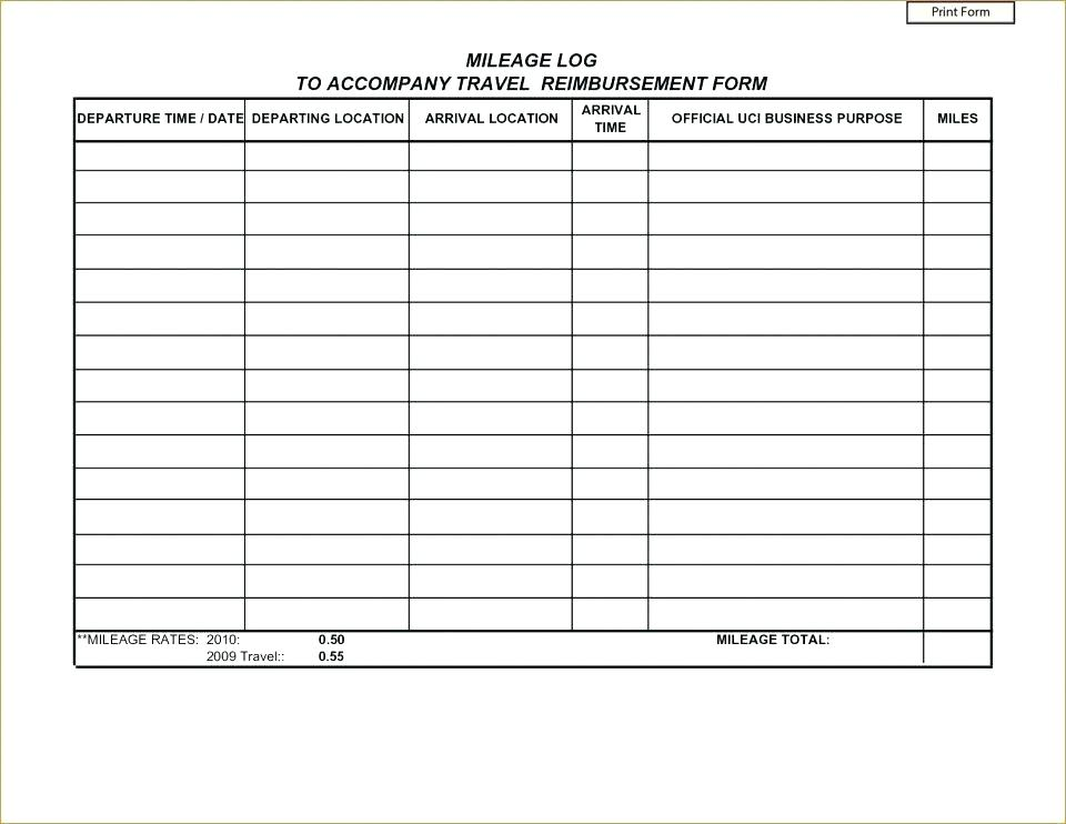 Fuel Expense Form Templates