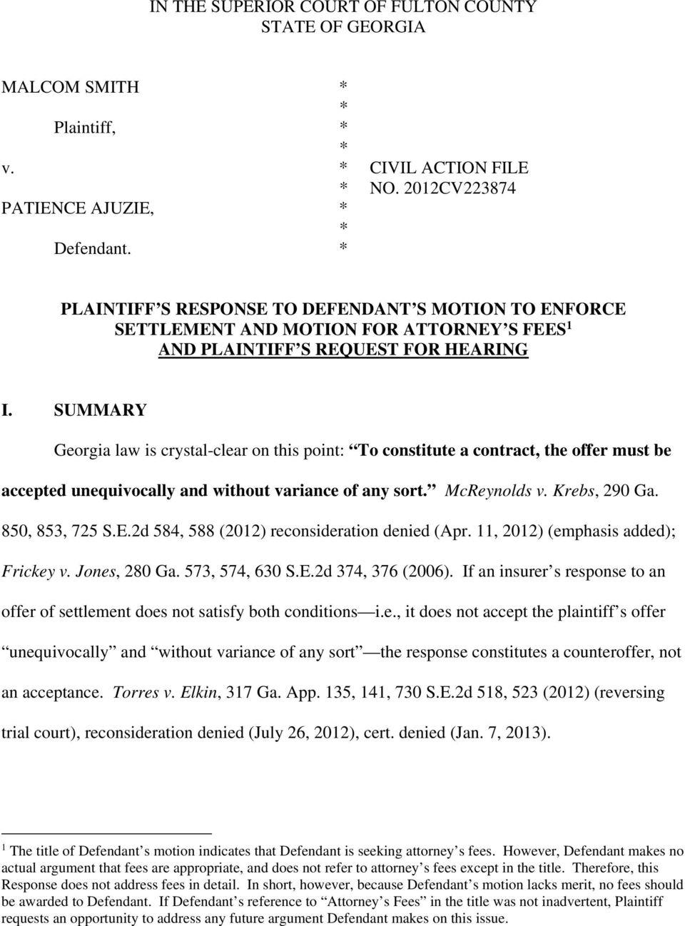 Fulton County Georgia Superior Court Filing Fees