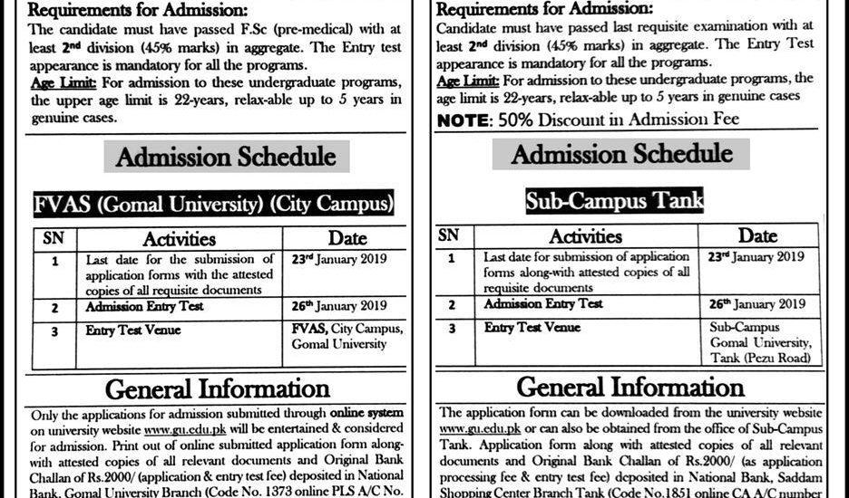Garrison University Lahore Admission Form