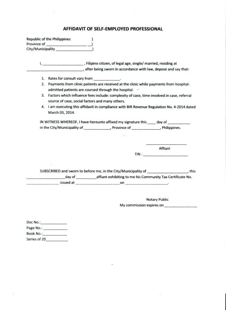 General Contractor Affidavit Form