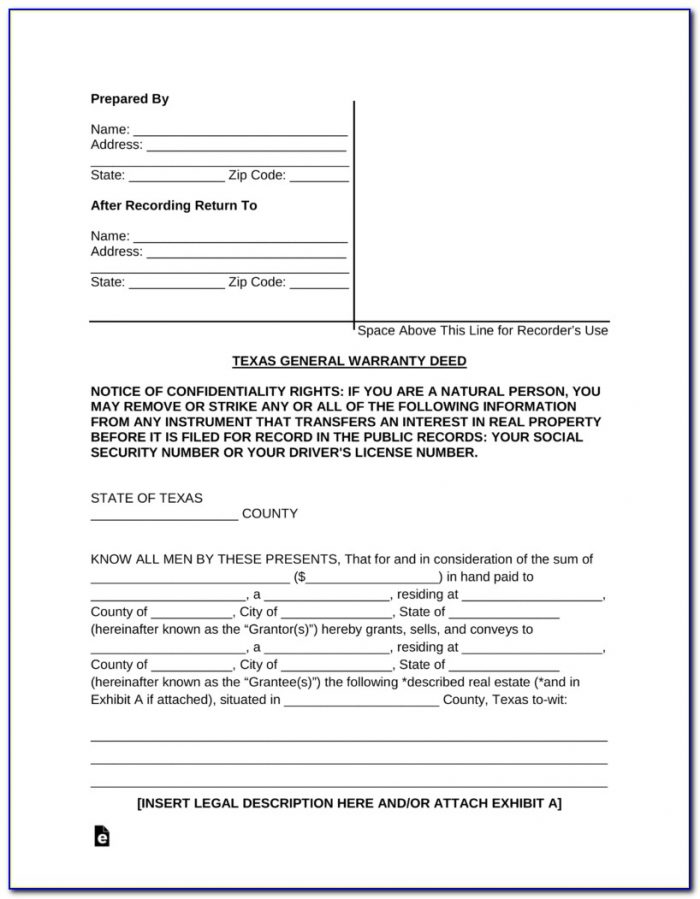 General Warranty Deed Form California