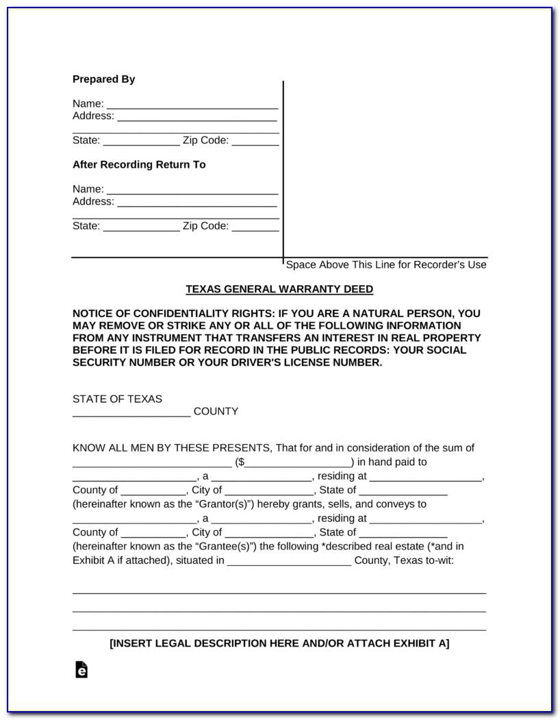 General Warranty Deed Form Colorado