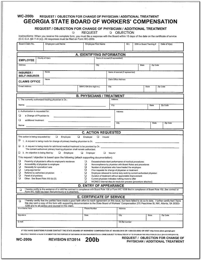 Georgia Workers Compensation Mileage Form