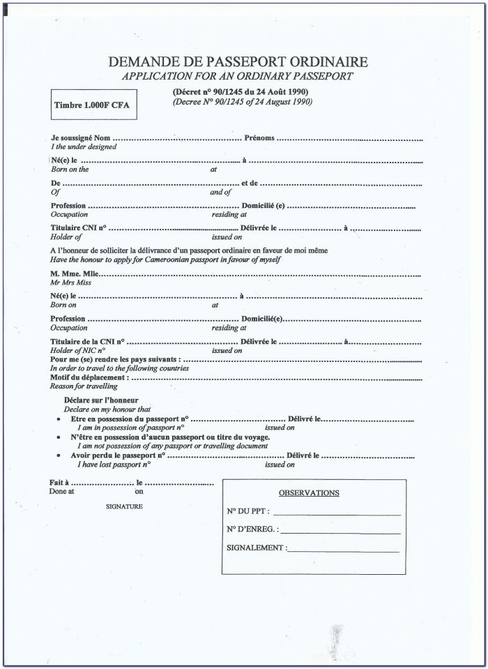 Ghana Visa Application Form Washington Dc