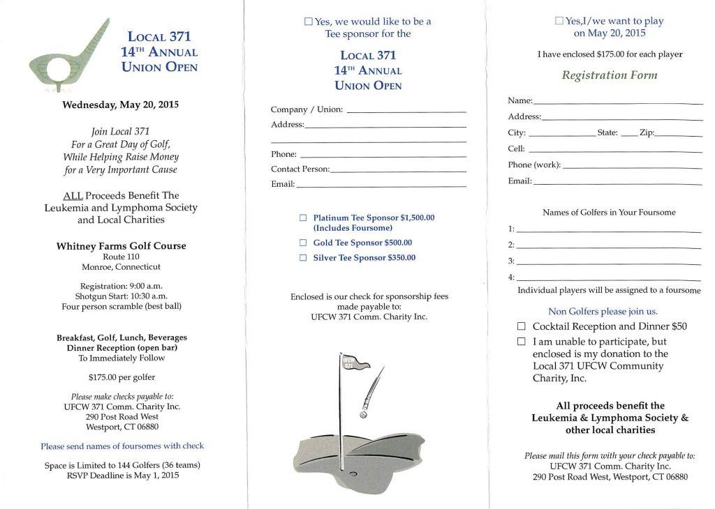 Golf Tournament Registration Form Template