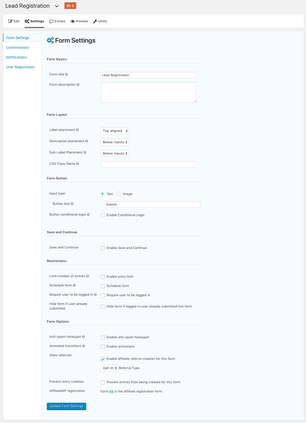 Gravity Form Paypal Integration