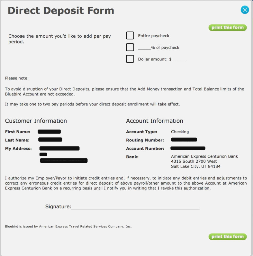 Green Dot Direct Deposit Form Pdf