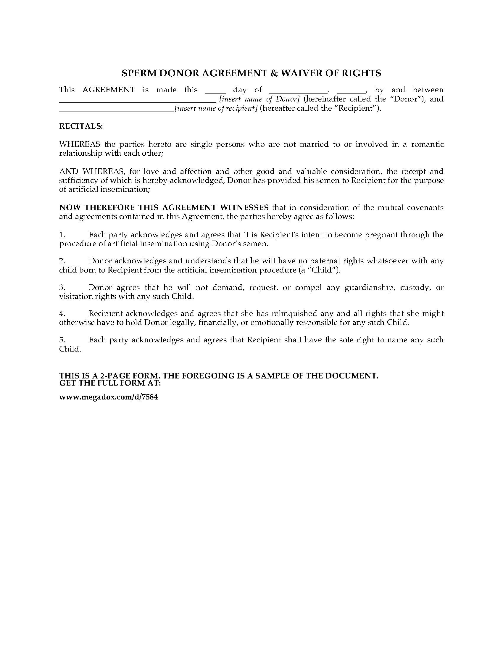 Guardianship Agreement Form Nova Scotia
