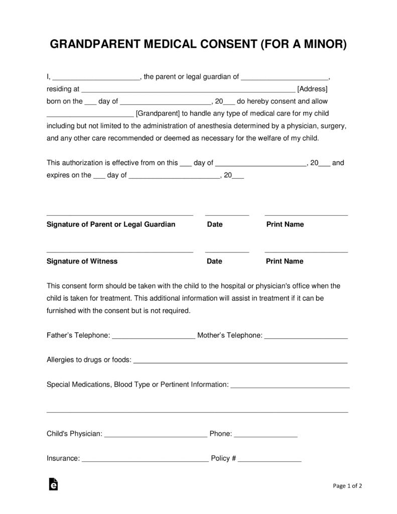 Guardianship Authorization Form California