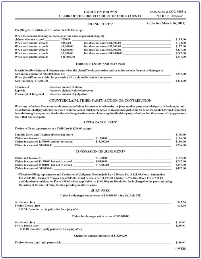 Guardianship Forms In Cook County Illinois
